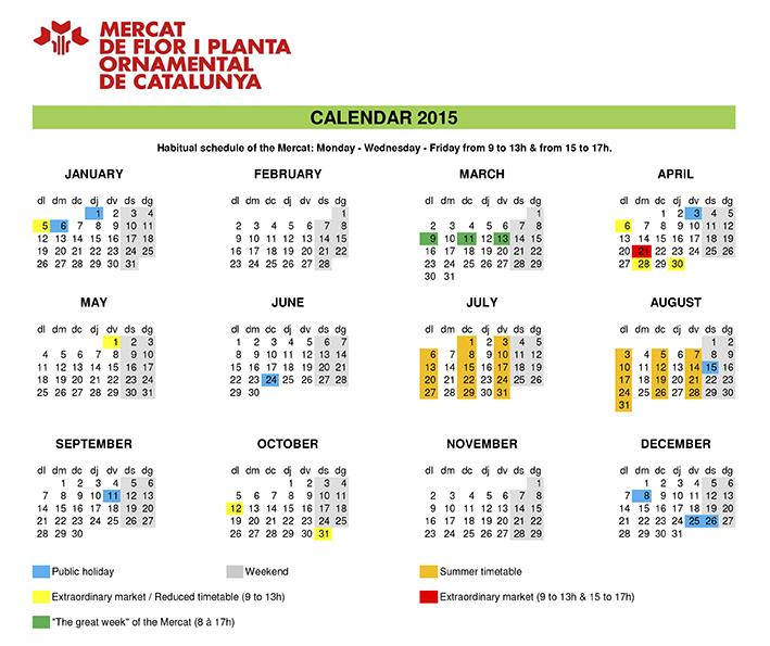 Mercat calendar 2015