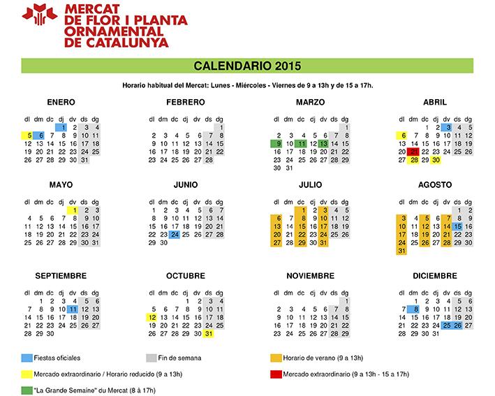 Calendario Venta Directa 2015
