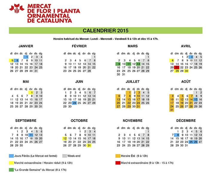 Calendrier du Mercat 2015